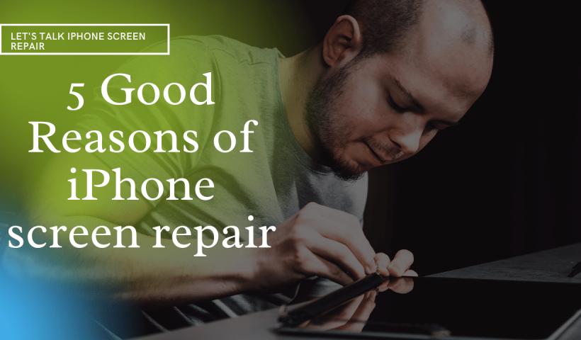 man repairing iPhone Screen