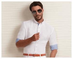 White Linen Shirt of Linen Club