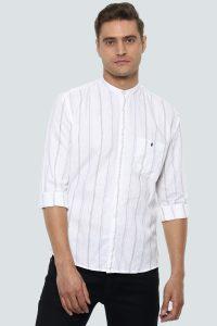 White Linen Shirt by Louis Philip