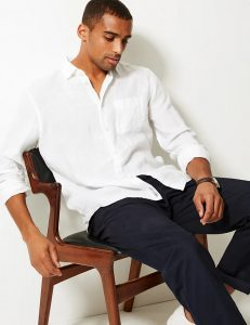 White Linen Shirts by Marks and Spencer