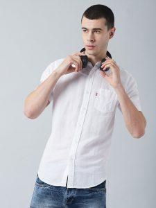 Levis White Linen Cotton Shirt